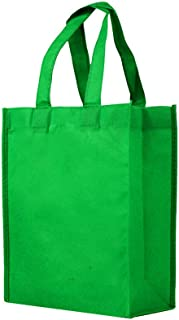 Reusable Gift/Party/Lunch Tote Bags - 25 Pack - Kelly Green