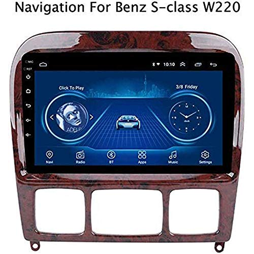 """gaoweipeng Car Stereo for Mercedes Benz S-Class 1998-2005 Double Din in Dash GPS Music Navigation Radio 9""""HD Touch Screen Multimedia Player Mirror Link Steering Wheel Control AM DAB USB"""