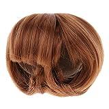 perfeclan Cheveux Courts Perruque Postiche pour 1/4 BJD Dolls Jouet Interactif, Brun