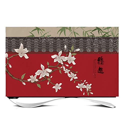 Funda para televisor de Interior Cubierta Antipolvo Protector TV Interior Universal Funda para Televisor de 24' - 65' LCD, LED, ó Plasma -GAOGUIMEI Cubierta Antipolvo(Size:43inch,Color:Grondaia)