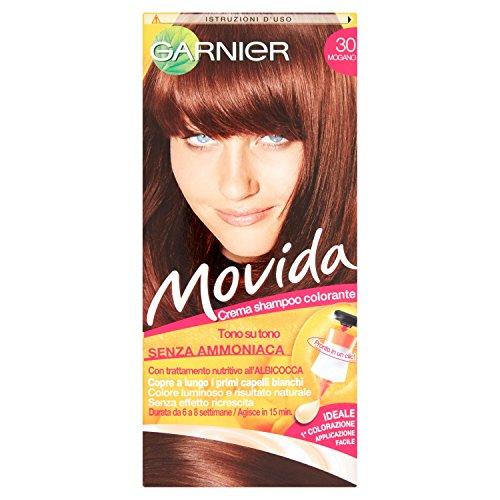 Garnier Garnier Movida Crema Shampoo Colorante, 30 Mogano - 35 + 70 + 20 ml
