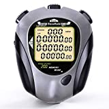 BizoeRade Digital Stopwatch Timer, 200 Lap Memory, Large Display, Backlight, Countdown, Metronome, Perfect for Coaches, Sports, Training