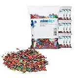 Relaxdays 10 Bolsas de Confeti XXL Metálico Brillante, 2,8 kg, Aluminio, Multicolor