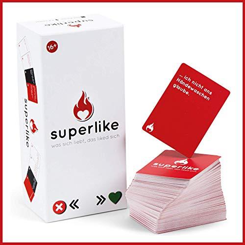 Simon und Jan - Superlike - El divertido juego de cartas con 500 cartas - Juego de fiesta para 3-8 jugadores - Juego de sociedad para adultos - Idea de regalo
