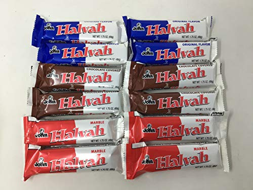 Joyva Halvah Variety 12 Count 4 Vanilla 4 Chocolate 4 Marble=12CT by
