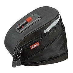 KLICKfix Farrad väska Micro 200 Expandable Schwa sadelväska, svart, 19 x 12 x 8 cm