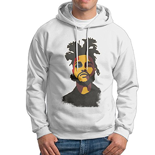 The Weeknd White Men's Sweatshirts
