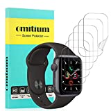 omitium Protector de Pantalla Apple Watch 44mm Series 5/4, [6 Packs] Apple Watch 42mm Series 3/2/1 Película Protector de TPU [Cobertura Completa] Sin Burbujas Alta Definición iwatch Film Protector