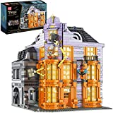 Serie Magic World Collection para fanáticos de Harry Potter Hogwarts, más de 3363 piezas Magical Happy House Shop bloques de construcción con luz, compatibles con Lego 16040,33 * 32 * 38cm