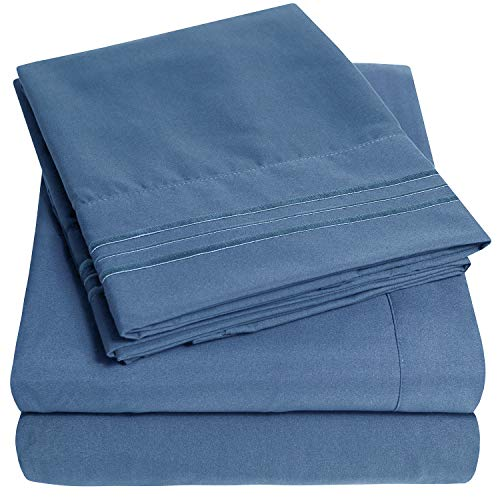 1500 Supreme Collection Extra Soft King Sheets Set, Denim - Luxury Bed Sheets Set with Deep Pocket Wrinkle Free...