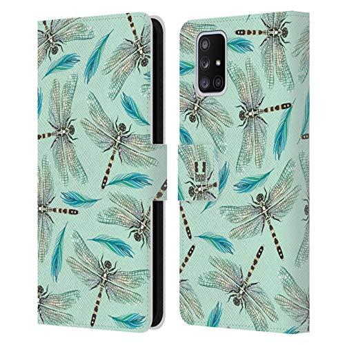 Head Hülle Designs Libellen Aquarell Insekten Leder Brieftaschen Handyhülle Hülle Huelle & Passende Designer Hintergr&bilder kompatibel mit Samsung Galaxy A51 5G (2020)