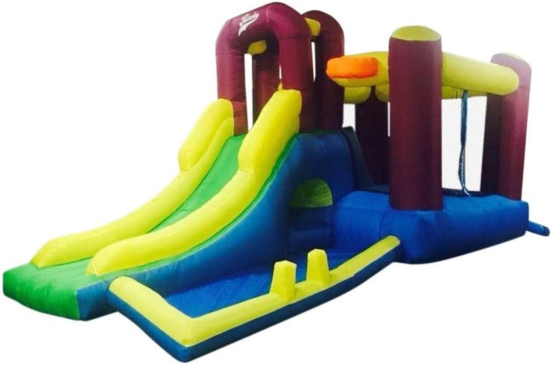 Riscko Castello Gonfiabile Infantile ch09da 485x 230x 233cm con Scivolo, Zona di Gio , Zona di SALTI E Rete Prossoettiva