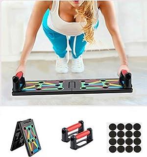 Surplex 9 en 1 Push Up Rack Board System Plegable Push Up Tabla Board Fitness Entrenamiento Gimnasio Ejercicio Stands para...