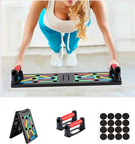 Surplex Faltbare 12-in-1 Push Up Rack Board System mit Handgriff Push-Up-Bracket Board Portable Multifunktionales Muskeltraining System für Home Fitness Workout Training Gym Übungsständer