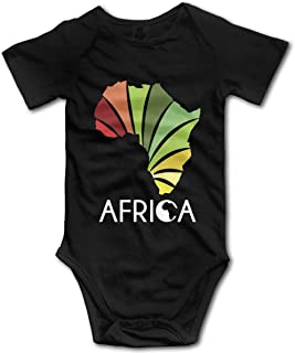 Nuwcense Afrika MAP Infant Baby Boy Kurzarm Bodys Weste Kleidung Strampler Outfit