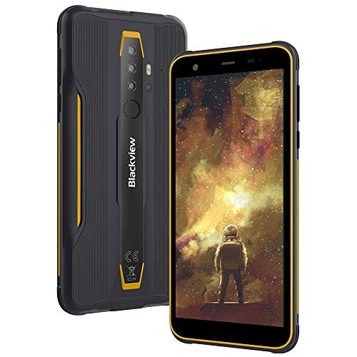 Moviles Resistente Outdoor 4G, Blackview BV6300 Android 10 Impermeable Smartphone, 3GB+32GB SD- 128GB, 5.7