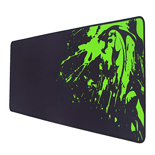 Green Dragen Large Gaming Mouse Pad with Stitched Edges, Non-Slip Rubber Base, Large Full Desk Mouse Pad, Extended Oversized Huge XXXL Mouse Pad, 800x300x3mm, Black (Game-X)