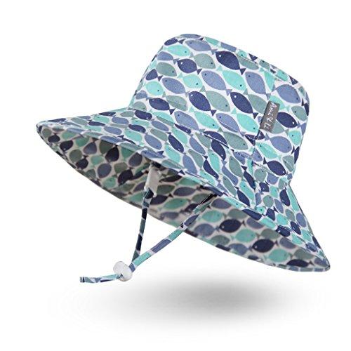 Ami & Li tots Niño Sombrero de Sol Bob Ajustable para Bebé Niña Niño Infantil Niños Pequeños Sombrero Protección Solar UPF 50 Unisexo-L:Escuela de Peces