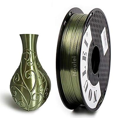 Noulei Silk PLA 3D Printer Filament 1.75mm, 500g Shiny Printing Materials Bronze