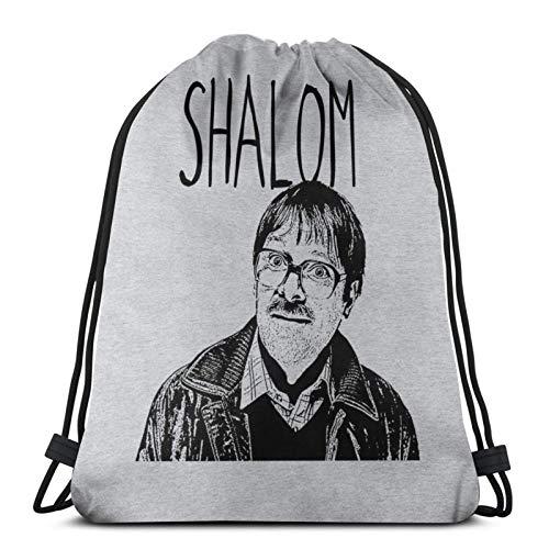 ghjkuyt412 Drawstring Bags Shalom Friday Night Dinner Jim Unisex Drawstring Backpack Sports Bag Rope Bag Big Bag Drawstring Tote Bag Gym Backpack in Bulk
