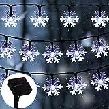 Christmas Snowflake String Lights, ZALALOVA 23 ft 50LEDs Snowflake Lights Decorations Watertight...
