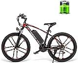 Ebikes Montaña Bicicleta eléctrica 26 Pulgadas 30 km 30km / h Bicicleta eléctrica de Alta Velocidad 350W 48V 8AH Masculino y Femenino Adulto Off-Road Travel Bike ZDWN