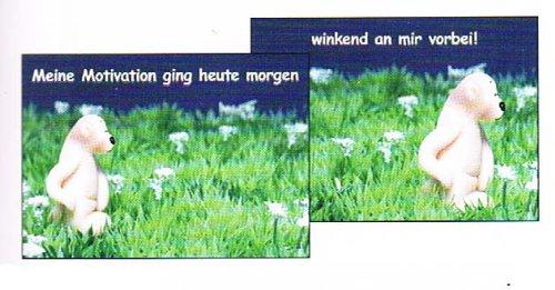 tatzino - Postkarte / Wackelbild - Nr. 11 - Bär - Meine Motivation ging heute ...