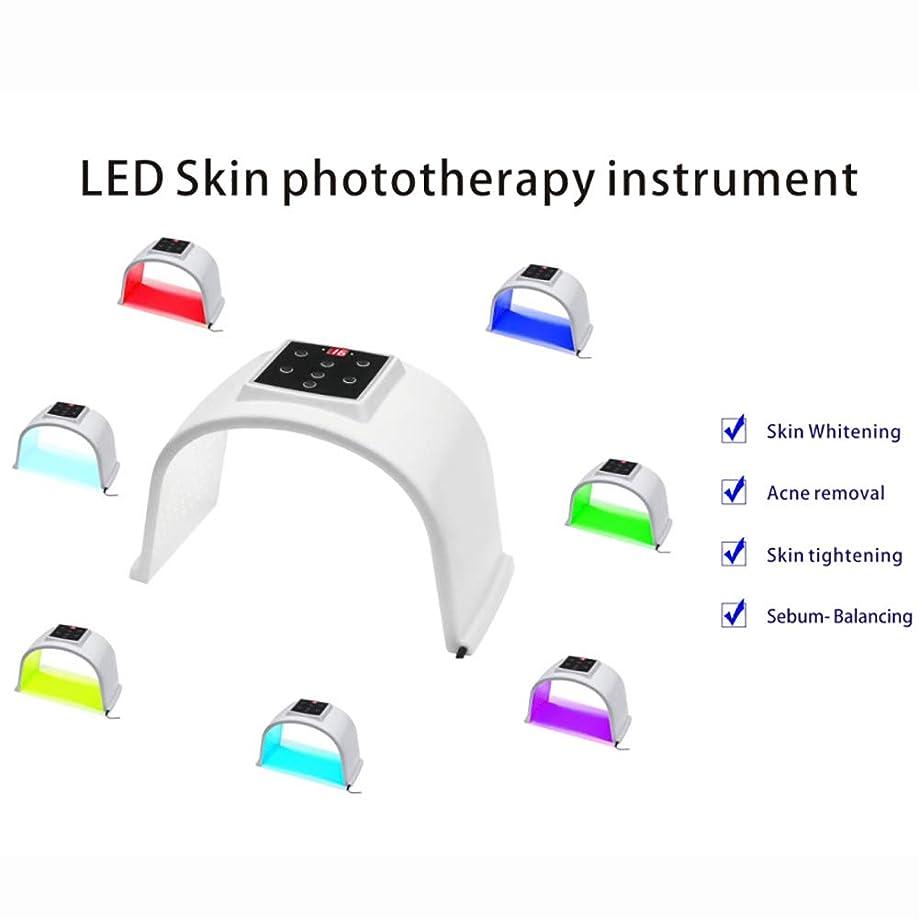 惨めなサバント大洪水7色LED肌の光線療法の器械、7色LEDの顔のマスク、人及び女性の老化防止/皮の若返り/にきびの減少PDT光線療法のDermatometer