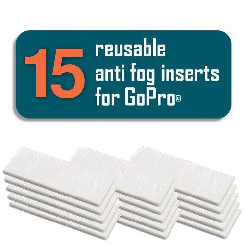 15 Stück Antibeschlag Einsätze Pads Anti-Fog Inserts für GoPro HERO4 HERO3+ HERO3 Hero