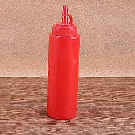 SY-MUPITIEZHI, Botella de salsa Herramientas de cocina de plástico Squeeze Botella Aceite de oliva Almacenamiento Tarro Condimento Dispensador Vinagre Condimento Accesorios