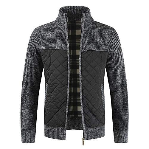 serliy😛Strickjacke Reißverschluss Herren | Hochwertige Trachten Strickjacke | Herbst Winter Packwork warme Reißverschluss Jacke Strickjacke Langarm Mantel