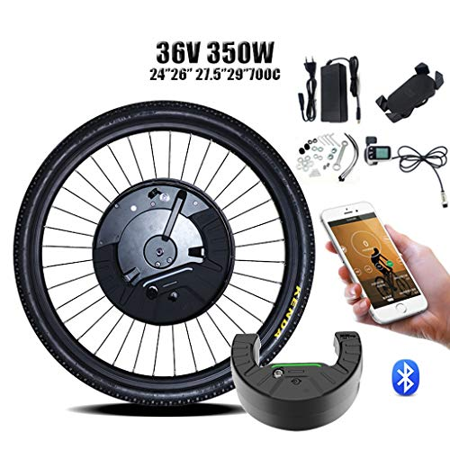 EBIKE Conversion Kit 36V350W Imotor 3 Kit In Ebike Umwandlungs-Kit 26''700C 27.5''29 '' DC Vorne Motor-Rad-Elektro-Fahrrad-Kit Bicicleta Electrica 2020 ( Color : Disc APP control , Size : 26 in )