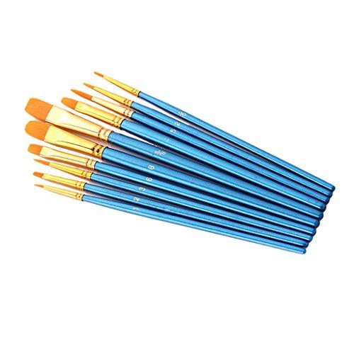MagiDeal Multifunktionales Nylon Pinsel, Kunststoff, Sky Blau, Set von 10