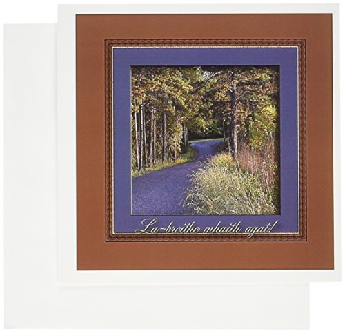 3dRose Colors at Sundown, La-breithe mhaith agat, Happy Birthday in Irish - Greeting Cards, 6 x 6 inches, set of 12 (gc_43365_2)