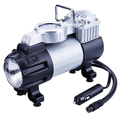 TIREWELL,12-V-Reifenpumpe, robuste Metallpumpe mit Direktantrieb, 10 Bar, tragbarer Luftkompressor mit LED-Licht und Batterieklemme
