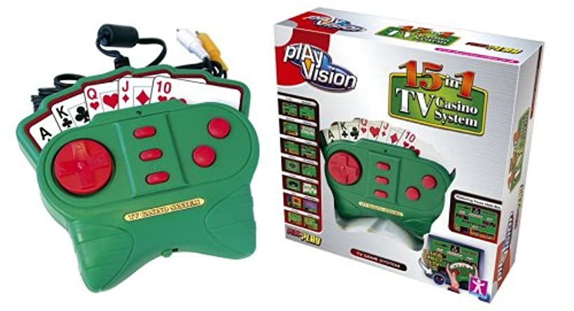 PlayVision 15-in-1 Plug-and-Play TV Casino System