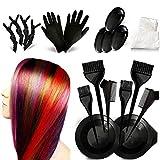 Kit de teinture pour cheveux - Kit de coloration - Pour salon de beauté, châle jetable, peigne, bol de teinture pour cheveux, brosse à teinture - Pour les outils de teinture de salon de bricolage