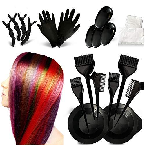 Haarfärbemittel Kit Haarfärbemittel Färbung DIY Beauty Salon Tool Kit Salon Einweg-Haartuch , Bürstenkamm, Haartönungsschale, Färbebürste, Ohrabdeckung, Handschuhe für DIY Salon Haarfärbemittel