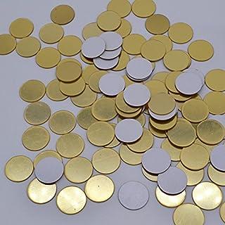 100pcs / Lot 2cm Mini 3D Espejo de acrílico Pegatinas de Pared Corazón/Forma Redonda Pegatinas Calcomanía Mosaico Espejo Efecto Salón Decoración del hogar - Oro Redondo 100pcs