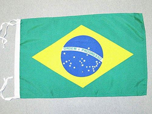 AZ FLAG Flagge BRASILIEN 45x30cm mit Kordel - BRASILIANISCHE Fahne 30 x 45 cm - flaggen Top Qualität