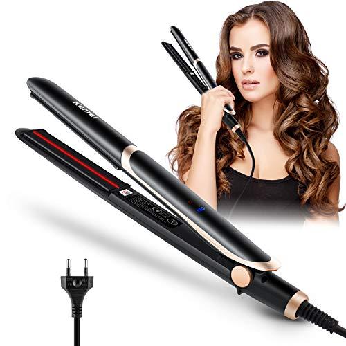 XianJu 2 In 1 Haarglätter Und Lockenstab,Professional Glätteisen Haarglätter Multifunktions Lockenwickler mit 16-20mm Keramik Beschichtung und LED-Temperaturanzeige.