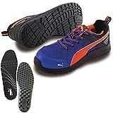 [プーマ] 安全靴 作業靴 マラソン ブルー ロー 25.5cm 中敷き インソール付セット 64.335.0&20.450.0