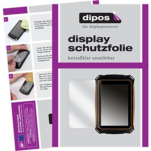 dipos I 2X Schutzfolie klar kompatibel mit i.onik TX Serie 1 (7 Zoll) Handwerker Tablet Folie Bildschirmschutzfolie