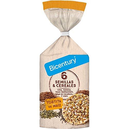 BICENTURY tortitas de maz 6 semillas y cereales bolsa 119 gr