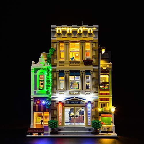ZHLY Kit di luci LED per Lego 10278 Stazione di Polizia, Set di Luci Illuminazione per Lego 10278 (Modello Lego Non Incluso) (Versione Standard)