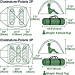 Clostnature Lightweight 2-Person Backpacking Tent - 3 Season Ultralight Waterproof Camping Tent, Large Size Easy Setup…