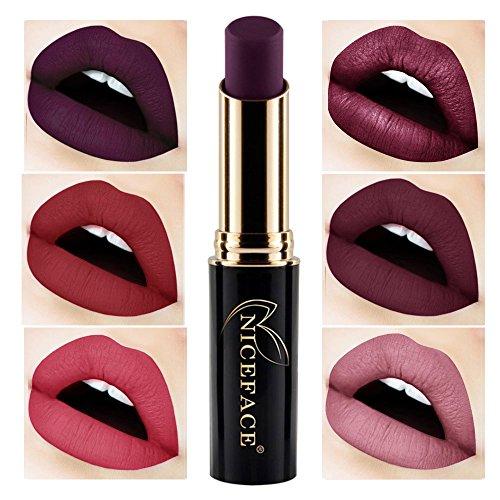 2018 Labiales Mate Larga Duracion Pintalabios Permanente de Maquillaje Profesional 24 Colores...