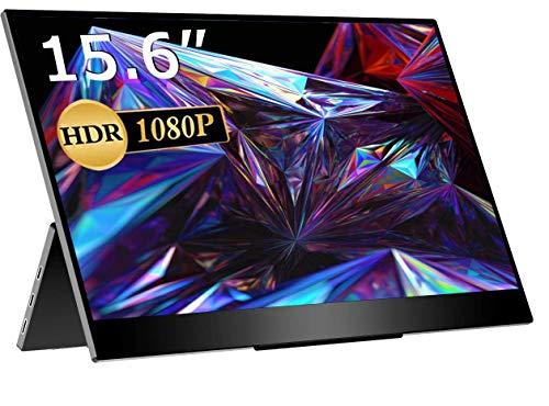 モバイルモニター/モバイルディスプレイ/cocopar 15.6インチ/スイッチ用モニター/非光沢ノングレアIPSパネル/薄い/軽量/HDRモード/FreeSync対応/ブルーライト機能1920x1080FHD/USB Tpye-C一本/mini HDMI/3年保証 PSE認証済み YC-156R