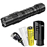 Nitecore P10i 1800 Lumen USB-C Rechargeable Tactical Flashlight, Strobe Ready with LumenTac Battery Case