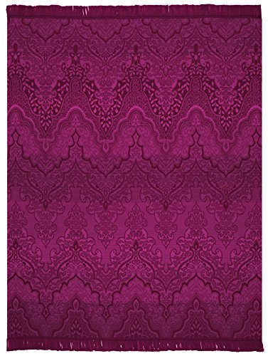 Biederlack Wohn- & Kuscheldecke, 60 prozent Baumwolle, Mit Fransen, 150 x 200 cm, Beerenrot, Exquisite Cotton Plus Persia, 646194